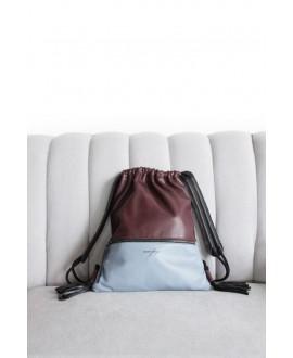 Gina Backpack Burgundy, grey and black