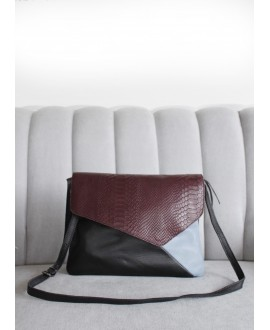 Aoife bag Black, Blue and Burgundy