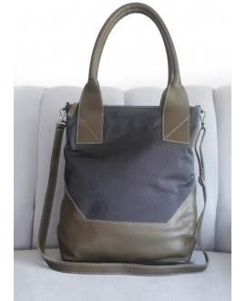 Hope bag in grey and olive