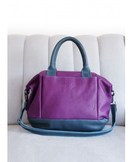 Barbara bag purple and teal