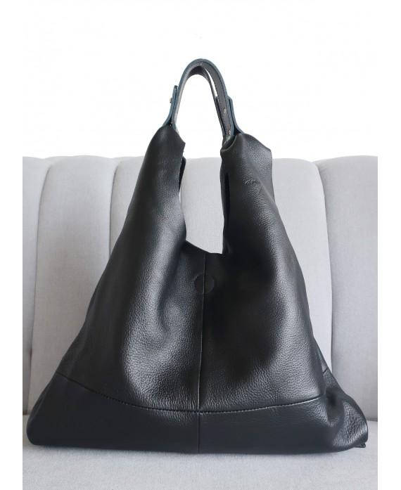 Helena black soft leather