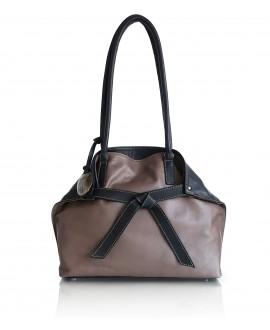 Sara Fold bag black and mushroom