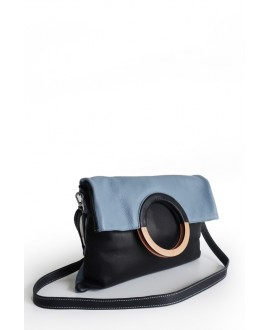 Mhauire bag black and powder blue