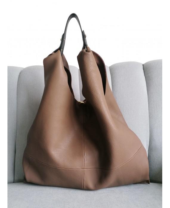 Helena metallic chocolate brown